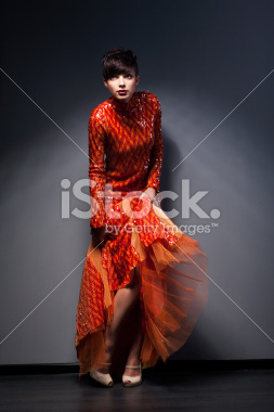 stock-photo-25191057-trendy-brunette-posing-in-red-dress-studio-shot